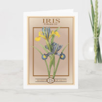 iris seed packet card