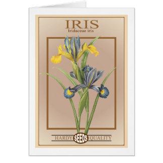 iris seed packet greeting card