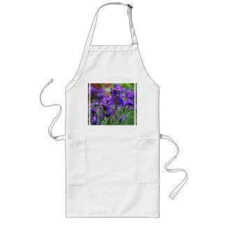 Iris siberiano bonito delantales