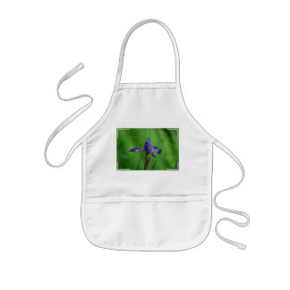 Iris siberiano floreciente delantal