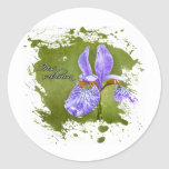 Iris-sibirica Classic Round Sticker