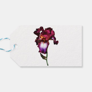 Iris Splash O' Wine Gift Tags