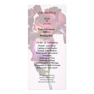 Iris Splash O Wine Wedding Program