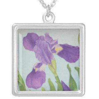 Iris Square Pendant Necklace