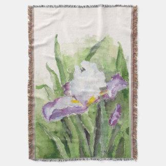 Iris suave de la acuarela manta