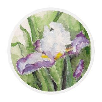 Iris suave de la acuarela obleas para galletas
