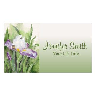 Iris suave de la acuarela tarjetas de visita