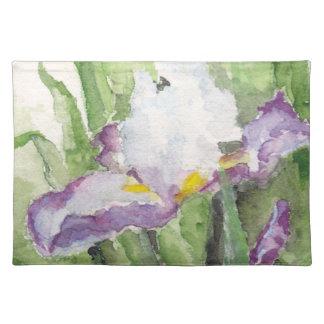Iris suave Placemat de la acuarela Mantel Individual