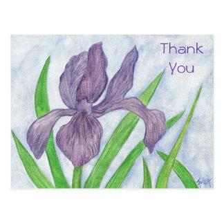 Iris Thank You Postcard