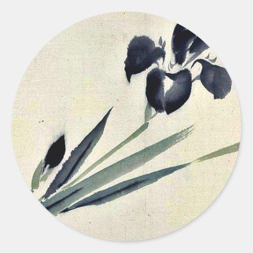 Iris? Ukiyo-e. Classic Round Sticker