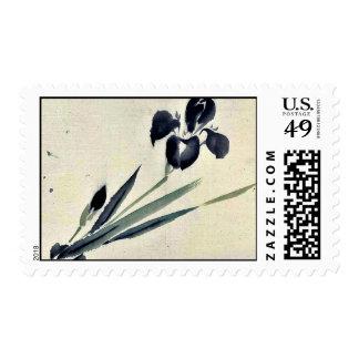 Iris? Ukiyo-e. Postage