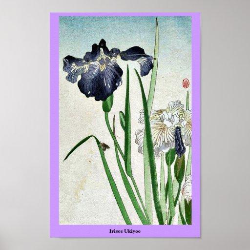 Iris Ukiyoe Poster