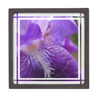 Iris Up Close Premium Keepsake Box