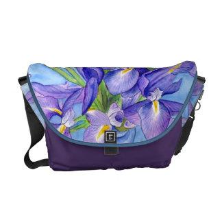 Iris Vase Flower Painting Messenger Bag