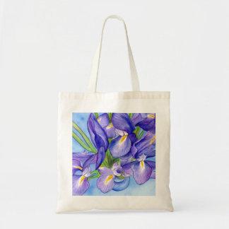Iris Vase Flower Painting Tote Bag