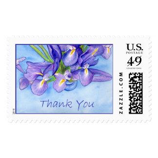 """Iris Vase """"Thank You"""" Stamp"""