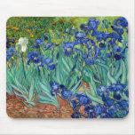 Iris Vincent van Gogh que pinta Mousepad Tapetes De Ratones