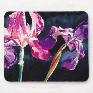 """""""Iris violeta"""" floral por el cojín de ratón de Pau Mouse Pads"""