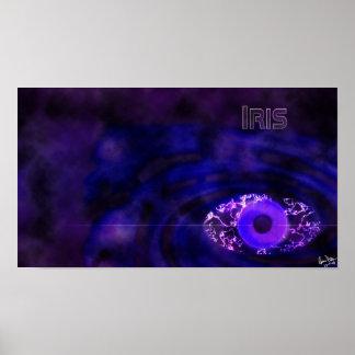 Iris wallpaper poster