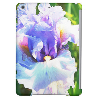 Iris Watercolor in Lavender and Blue iPad Air Covers