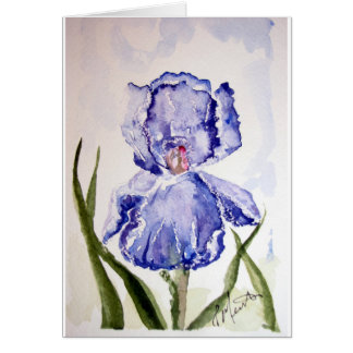 Iris Watercolor Sympathy Card
