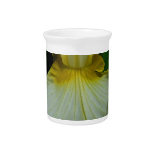 Iris White Drink Pitcher