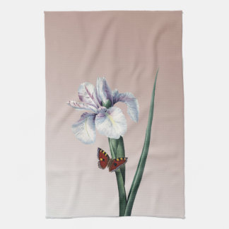 Iris with Butterfly Hand Towel