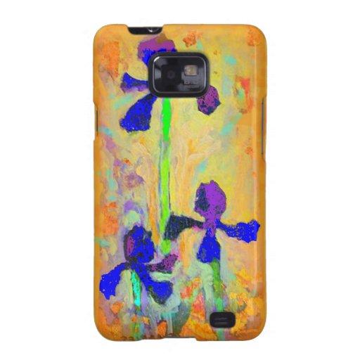 Iris y almohada azules de la mostaza de Dijon por  Galaxy S2 Carcasas
