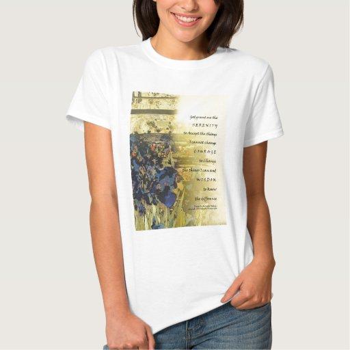 Iris y cerca del rezo de la serenidad camiseta