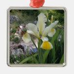 Iris y escarabajo blancos ornamento para reyes magos