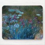 Iris y lirios de agua, Claude Monet Alfombrilla De Ratón