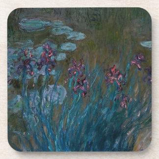 Iris y lirios de agua posavasos de bebidas