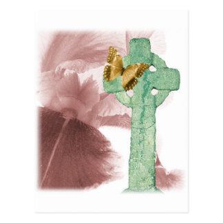 Iris y marcador de la piedra tarjeta postal