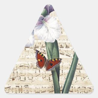 Iris y música colcomanias triangulo personalizadas