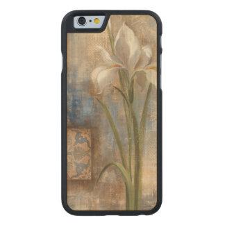 Iris y teja funda de iPhone 6 carved® de arce