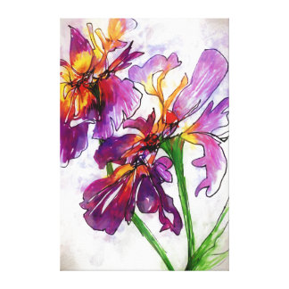 Iris You Were Here Canvas Print