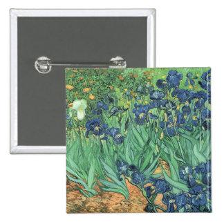 Irises, 1889 pinback buttons