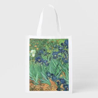 Irises, 1889 reusable grocery bags