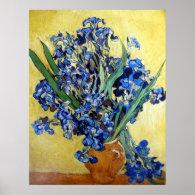 Irises 1890 Vincent van Gogh Poster