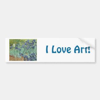 Irises 2 by Vincent Van Gogh Bumper Stickers