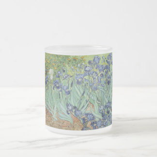 Irises 2 by Vincent Van Gogh 10 Oz Frosted Glass Coffee Mug