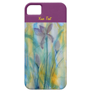 Irises abstract watercolor, soft and vibrant iPhone SE/5/5s case