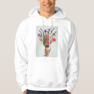 Irises and Berbera in a Dutch Jug Hoodie