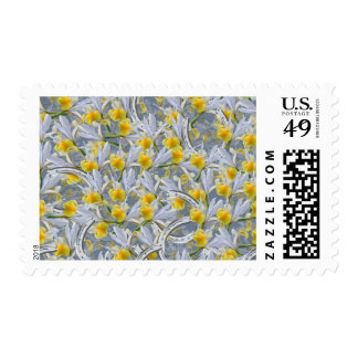 Irises and butterflies stamps