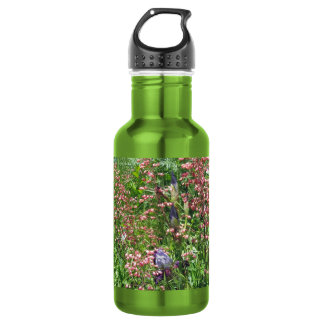 Irises and Coral Bells Water Bottle