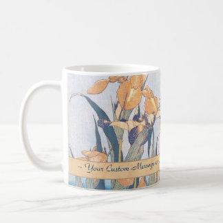 Irises and Grasshopper Katsushika Hokusai flowers Classic White Coffee Mug