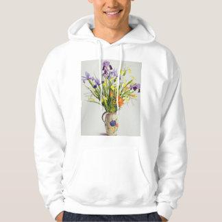 Irises and Lilies in a Dutch Jug Hoodie
