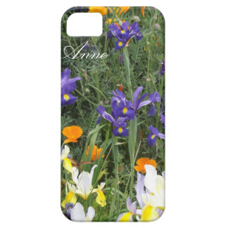 Irises and Poppies Personalized iPhone Case