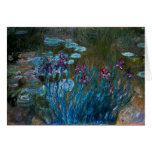 Irises and Water Lilies, Claude Monet Cards