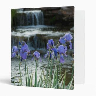 Irises At Chateau 3 Ring Binder